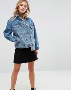 Синяя свободная джинсовая куртка ASOS - Синий