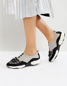 Кроссовки с декоративной отделкой Carvela Lola - Серый