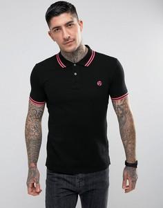 Узкая черная футболка-поло с логотипом PS by Paul Smith - Черный