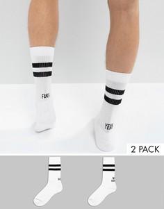 2 пары носков в спортивном стиле с надписями ASOS - Белый
