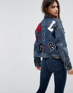 Куртка с вышивкой Tommy Hilfiger Denim - Синий