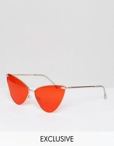 Солнцезащитные очки кошачий глаз с красными затемненными стеклами AJ Morgan - Красный