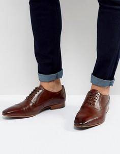 Кожаные оксфордские туфли Walk London City - Коричневый