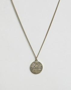 Золотистое ожерелье с круглой подвеской Classics 77 - Золотой