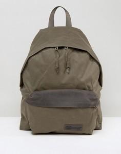 Рюкзак объемом 24 литра из парусины с покрытием Eastpak Padded PakR - Зеленый