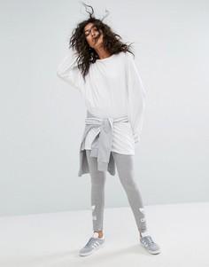 Серые леггинсы с логотипом-трилистником adidas Originals - Серый