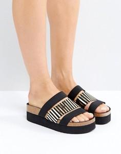 Черные сандалии с ремешками SixtySeven - Черный