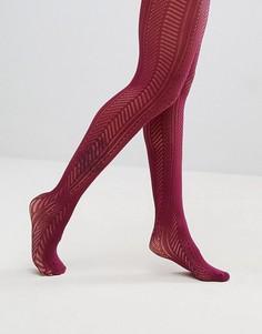 Ажурные колготки с шевронным узором Gipsy - Фиолетовый