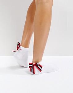 Носки с бантиками в полоску ASOS - Белый
