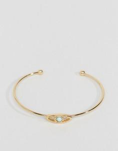 Незамкнутый браслет-манжета ASOS - Золотой