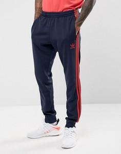 Темно-синие джоггеры с манжетами adidas Originals Superstar BR4288 - Темно-синий