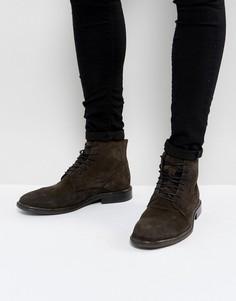 Кожаные ботинки на шнуровке AllSaints - Коричневый