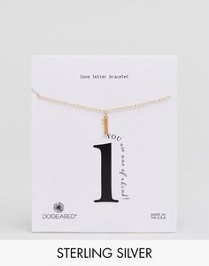 Позолоченный браслет с буквой L Dogeared Love Letter - Золотой