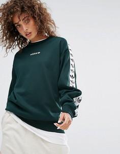 Зеленый свитшот с круглым вырезом adidas Originals Tnt - Зеленый