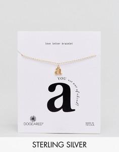 Позолоченный браслет с буквой A Dogeared Love Letter - Золотой
