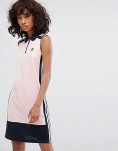 Бледно-розовое платье поло без рукавов adidas Originals Osaka - Розовый