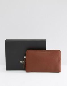 Кожаный кошелек для монет Royal Republiq Fuze - Коричневый