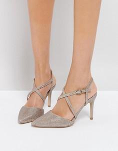 Туфли на каблуке с острым носком New Look - Золотой