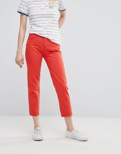 Укороченные джинсы прямого кроя Wrangler - Красный