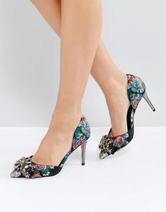 Туфли-лодочки с цветочными принтом и пряжками Carvela Guided - Мульти