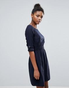 Платье с присборенной талией Vila - Темно-синий