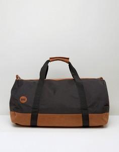 Черная сумка дафл с контрастным дизайном светло-коричневого цвета Mi-Pac - Черный