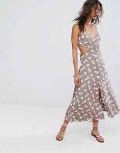 Платье миди с вырезами Flynn Skye Mallory - Мульти