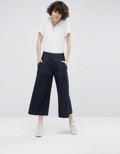Синие широкие джинсы ASOS WHITE - Темно-синий