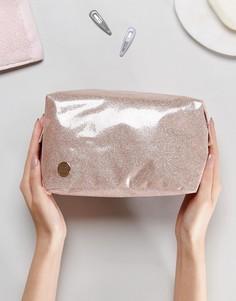Блестящая косметичка цвета шампанского Mi-Pac - Розовый