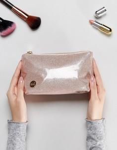 Косметичка цвета шампанского с блестками Mi-Pac - Розовый