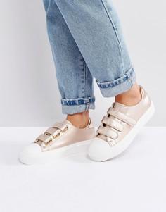 Кроссовки на платформе с ремешками на липучках Blink - Медный