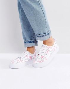Кроссовки на платформе с принтом фламинго Blink - Белый
