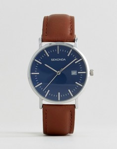 Часы со светло-коричневым кожаным ремешком Sekonda эксклюзивно для ASOS - Рыжий