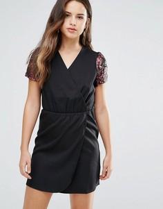 Платье с запахом Louche Direll - Черный
