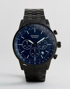 Часы с черным ремешком и хронографом Sekonda - Черный