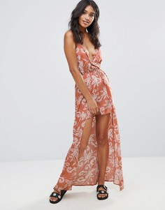Платье макси с принтом пейсли Parisian - Красный