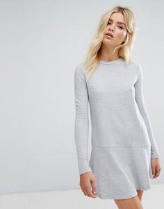 Платье-свитшот с рукавами клеш Daisy Street - Серый