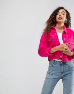 Розовая джинсовая куртка ASOS - Розовый