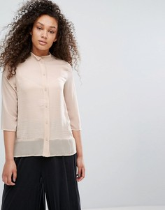 Рубашка с воротом на пуговице Moss Copenhagen - Серый