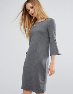 Платье с оборками на рукавах Vila - Серый