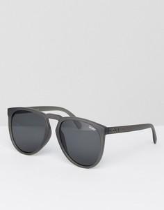 Серые круглые солнцезащитные очки Quay Australia - Серый