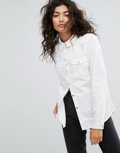 Джинсовая рубашка Noisy May - Белый