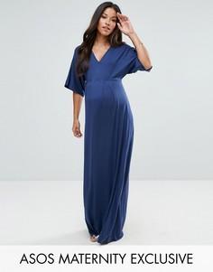 Платье макси с рукавами кимоно ASOS Maternity - Темно-синий