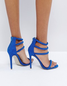 Синие сандалии с ремешками Missguided - Синий