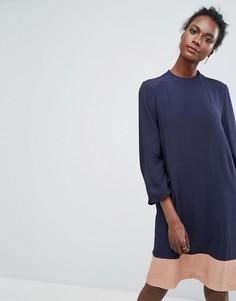 Свободное платье в стиле колор блок Y.A.S - Мульти