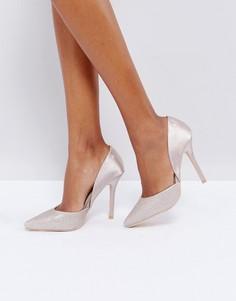 Туфли-лодочки на каблуке Glamorous Champagne - Кремовый