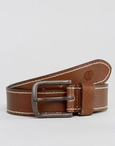 Кожаный ремень с контрастной строчкой Dickies Branchville - Коричневый