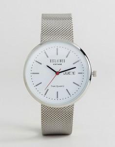 Часы с серебристым сетчатым ремешком Reclaimed Vintage Inspired - Серебряный