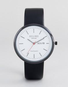 Часы с черным сетчатым ремешком Reclaimed Vintage Inspired - Черный