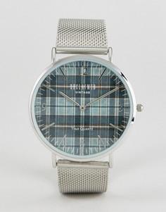 Часы с серебристым ремешком Reclaimed Vintage Inspired - Серебряный